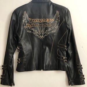 Harley-Davidson Black Leather Jacket XS